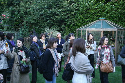 Japanese design students with Renata in 2010